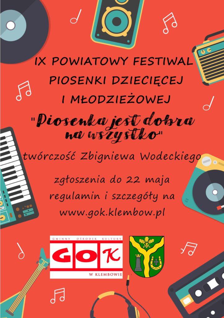 plakat Powiatowy Festiwal