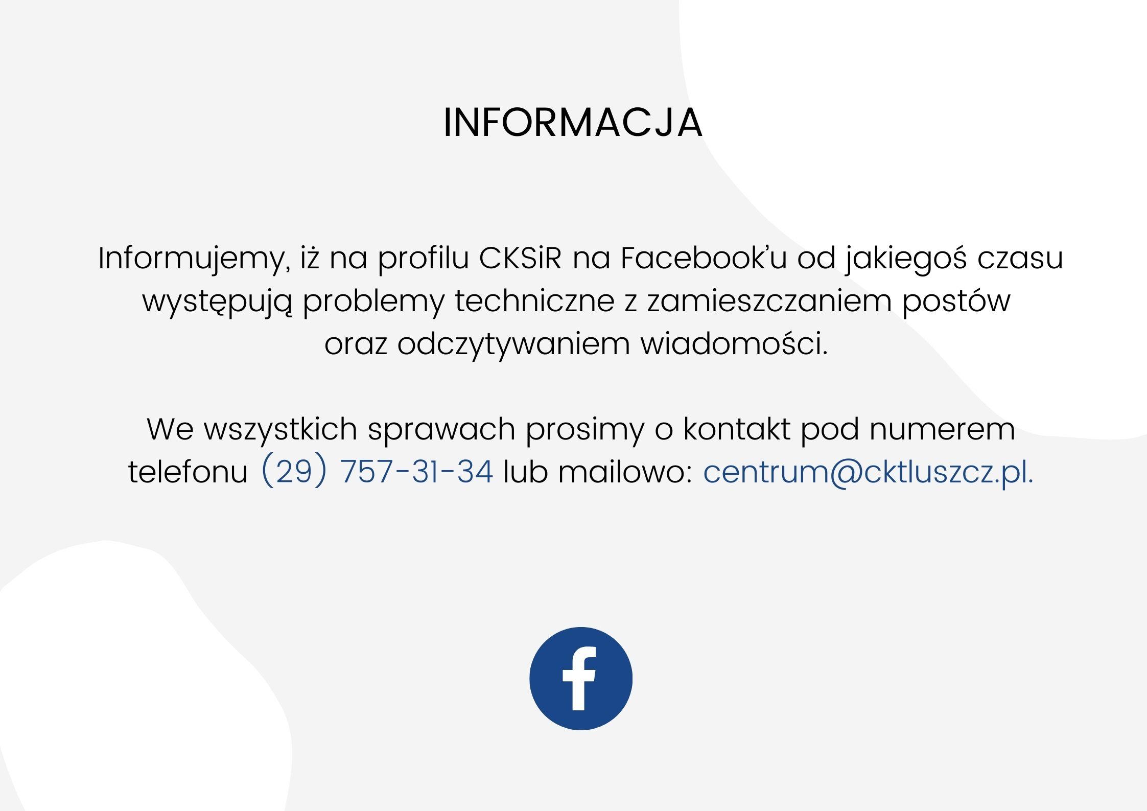 Informacja Facebook